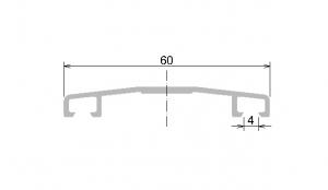 Krycí lišta Makrolon d.6m