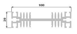 Hliníkový chladič 100x28