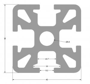 KOMBI 40x40mm  -  PROFIL