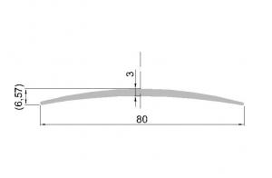 Krycí lišta š.80mm; přír. elox 5,9m