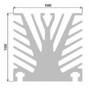 Hliníkový chladič 100x100 3m