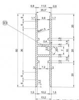 H profil  MEZERA 10,2 mm Elox