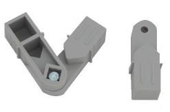 Plast. spojka pro J20x20x1,5  Úhel 45°-315°