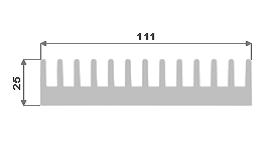 Hliníkový chladič 111x25 3M