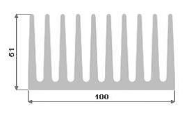 Hliníkový chladič 100x51